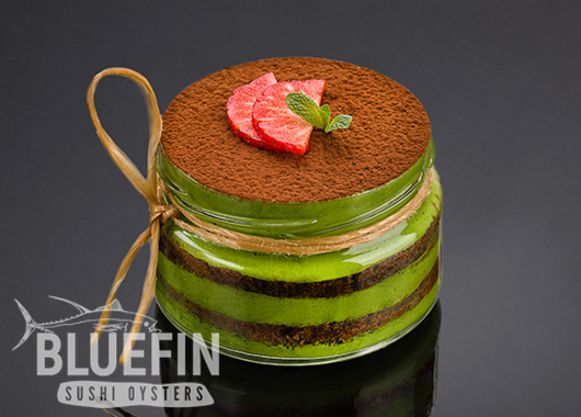 GREEN TEA TIRAMISU - Exclusive from BLUEFIN. Order your delivery!