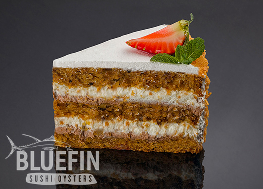 CARROT CAKE - Exclusive from BLUEFIN. Order your delivery!