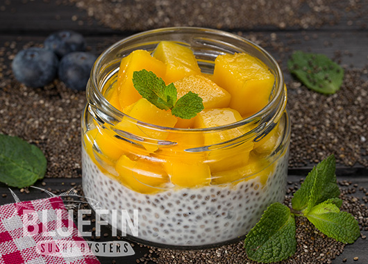 CHIA WITH MANGO - Exclusive from BLUEFIN. Order your delivery!