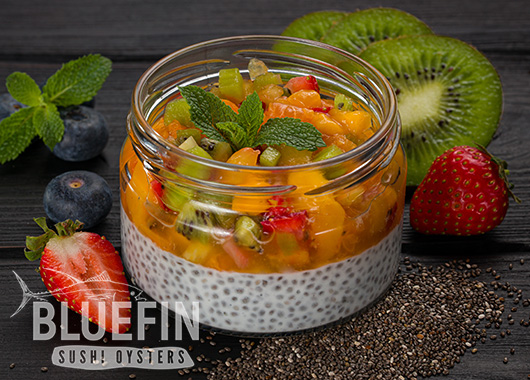 CHIA WITH FRUIT SALAD - Exclusive from BLUEFIN. Order your delivery!